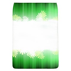Green Floral Stripe Background Flap Covers (S)