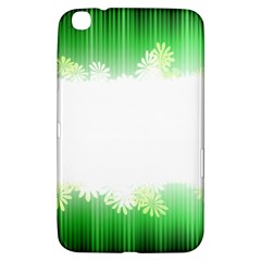 Green Floral Stripe Background Samsung Galaxy Tab 3 (8 ) T3100 Hardshell Case