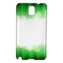 Green Floral Stripe Background Samsung Galaxy Note 3 N9005 Hardshell Case