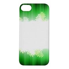 Green Floral Stripe Background Apple Iphone 5s/ Se Hardshell Case