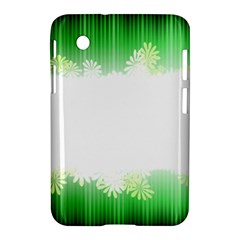 Green Floral Stripe Background Samsung Galaxy Tab 2 (7 ) P3100 Hardshell Case