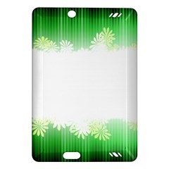 Green Floral Stripe Background Amazon Kindle Fire HD (2013) Hardshell Case