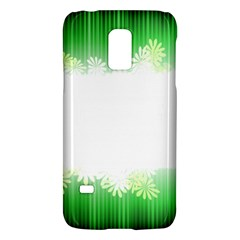 Green Floral Stripe Background Galaxy S5 Mini