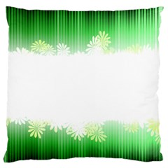 Green Floral Stripe Background Standard Flano Cushion Case (One Side)