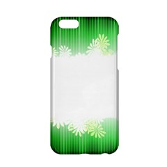 Green Floral Stripe Background Apple iPhone 6/6S Hardshell Case