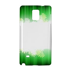 Green Floral Stripe Background Samsung Galaxy Note 4 Hardshell Case
