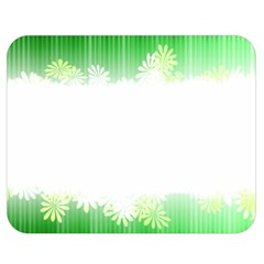Green Floral Stripe Background Double Sided Flano Blanket (Medium)
