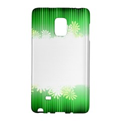 Green Floral Stripe Background Galaxy Note Edge