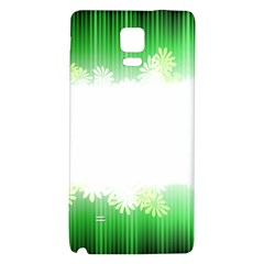 Green Floral Stripe Background Galaxy Note 4 Back Case