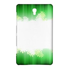 Green Floral Stripe Background Samsung Galaxy Tab S (8.4 ) Hardshell Case
