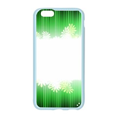 Green Floral Stripe Background Apple Seamless iPhone 6/6S Case (Color)