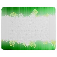 Green Floral Stripe Background Jigsaw Puzzle Photo Stand (rectangular)