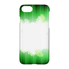 Green Floral Stripe Background Apple Iphone 7 Hardshell Case