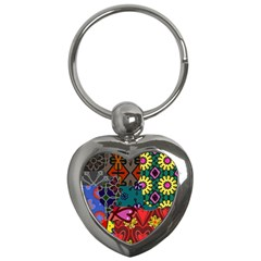 Patchwork Collage Key Chains (Heart)