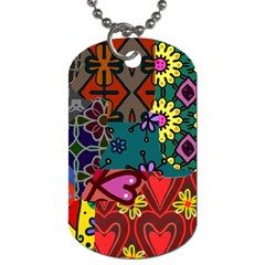 Patchwork Collage Dog Tag (One Side)