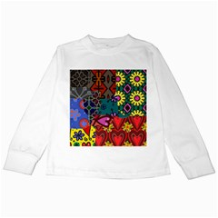 Patchwork Collage Kids Long Sleeve T Shirts