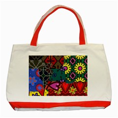 Patchwork Collage Classic Tote Bag (Red)