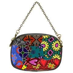 Patchwork Collage Chain Purses (two Sides)