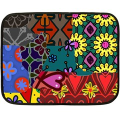 Patchwork Collage Double Sided Fleece Blanket (Mini)