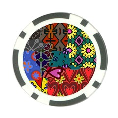 Patchwork Collage Poker Chip Card Guard (10 pack)