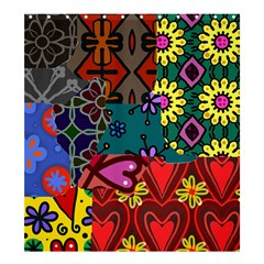 Patchwork Collage Shower Curtain 66  x 72  (Large)