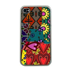 Patchwork Collage Apple iPhone 4 Case (Clear)