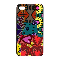 Patchwork Collage Apple Iphone 4/4s Seamless Case (black)
