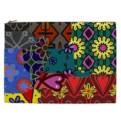 Patchwork Collage Cosmetic Bag (XXL)