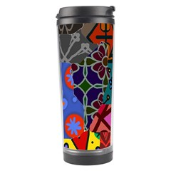 Patchwork Collage Travel Tumbler