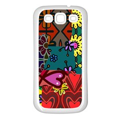 Patchwork Collage Samsung Galaxy S3 Back Case (White)