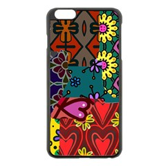 Patchwork Collage Apple Iphone 6 Plus/6s Plus Black Enamel Case