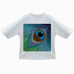 Peacock Feather Lines Background Infant/Toddler T-Shirts