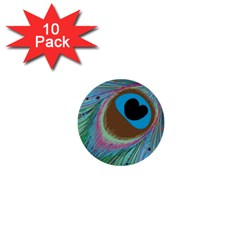 Peacock Feather Lines Background 1  Mini Buttons (10 Pack)