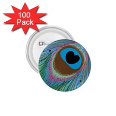 Peacock Feather Lines Background 1.75  Buttons (100 pack)