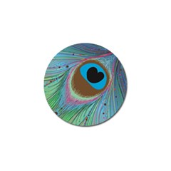 Peacock Feather Lines Background Golf Ball Marker (10 pack)