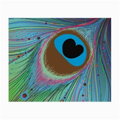 Peacock Feather Lines Background Small Glasses Cloth