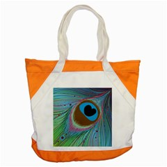 Peacock Feather Lines Background Accent Tote Bag