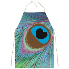 Peacock Feather Lines Background Full Print Aprons