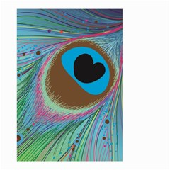 Peacock Feather Lines Background Small Garden Flag (two Sides)