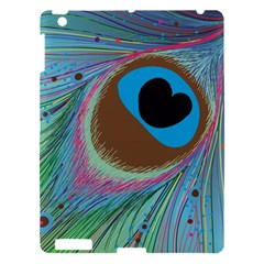 Peacock Feather Lines Background Apple Ipad 3/4 Hardshell Case