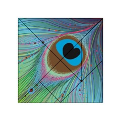 Peacock Feather Lines Background Acrylic Tangram Puzzle (4  x 4 )