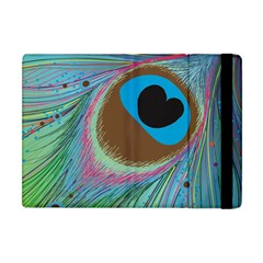Peacock Feather Lines Background Apple iPad Mini Flip Case