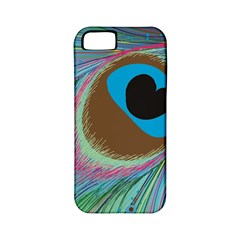 Peacock Feather Lines Background Apple Iphone 5 Classic Hardshell Case (pc+silicone)