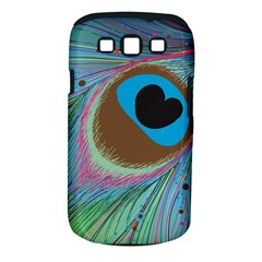 Peacock Feather Lines Background Samsung Galaxy S Iii Classic Hardshell Case (pc+silicone)
