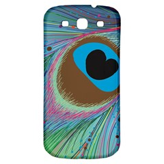 Peacock Feather Lines Background Samsung Galaxy S3 S III Classic Hardshell Back Case