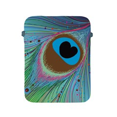 Peacock Feather Lines Background Apple iPad 2/3/4 Protective Soft Cases