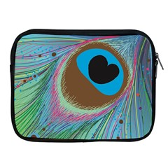 Peacock Feather Lines Background Apple iPad 2/3/4 Zipper Cases