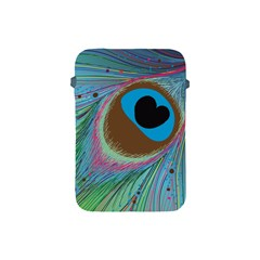 Peacock Feather Lines Background Apple Ipad Mini Protective Soft Cases