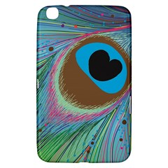 Peacock Feather Lines Background Samsung Galaxy Tab 3 (8 ) T3100 Hardshell Case