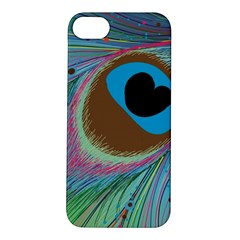 Peacock Feather Lines Background Apple iPhone 5S/ SE Hardshell Case
